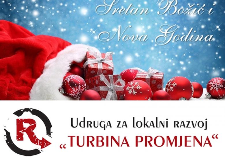 """Sve najbolje povodom nadolazećih blagdana želi Vam tim Udruge za lokalni razvoj """"Turbina promjena""""! ❤️🎄❄️🎅"""